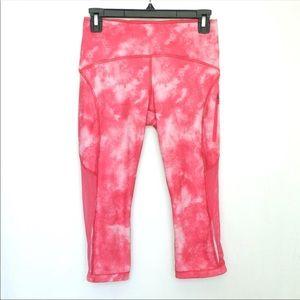 Lululemon Sun Runner Crop Tights Pink 4